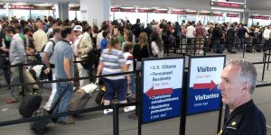 Customs an immigration lines